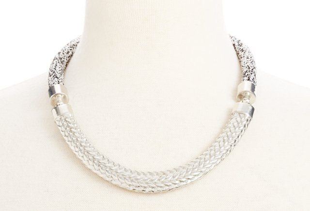 Concord Necklace, Heathered/Silver
