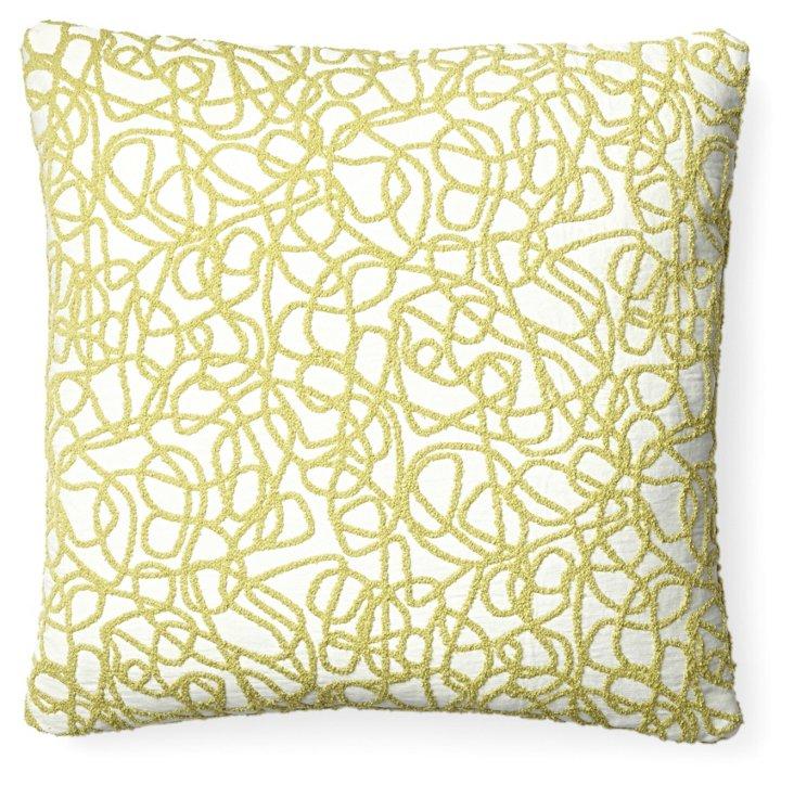 Scribble 18x18 Pillow, Green