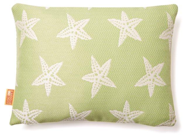 Starfish 12x16 Outdoor Pillow, Green