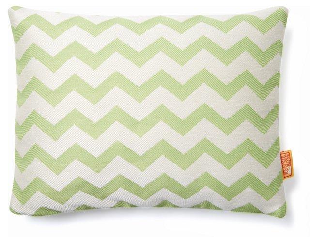 Chevron 12x16 Outdoor Pillow, Green