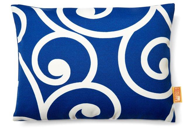 Vine 12x16 Outdoor Pillow, Navy
