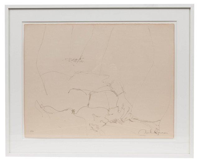 Lithograph by John Lennon I