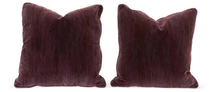 Pair of Eggplant Pillows, Pair