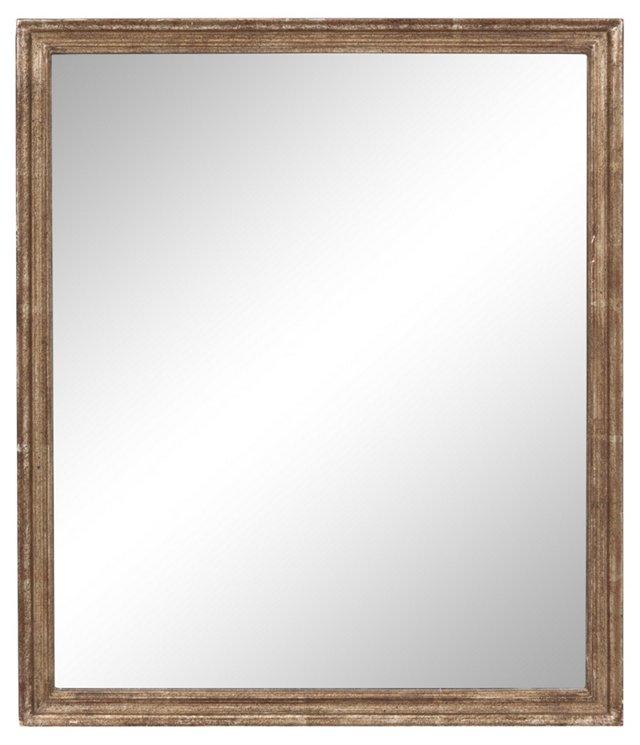 Vintage White Gold Mirror