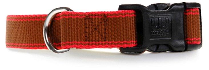 Large Stripe Hype Collar, Chocolate