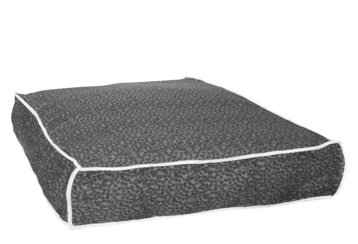 Spotty Dotty Square Bed, Charcoal