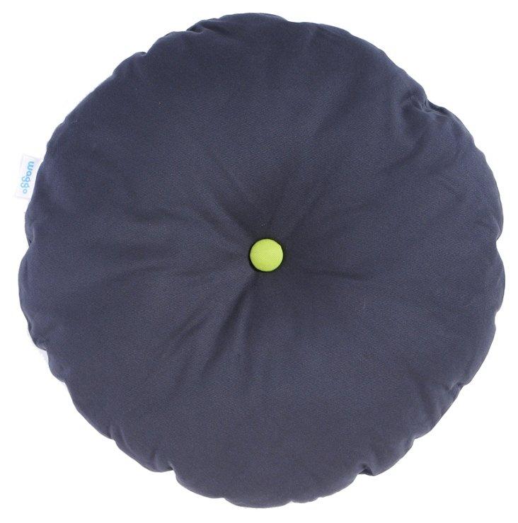 Colorblocker Pillow,  Charcoal/Lime