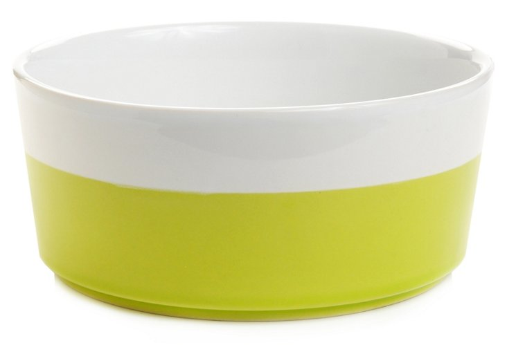 Dipped Ceramic Bowl, Lime