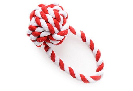 S/2 Have a Ball Twist Toys, Cherry/White