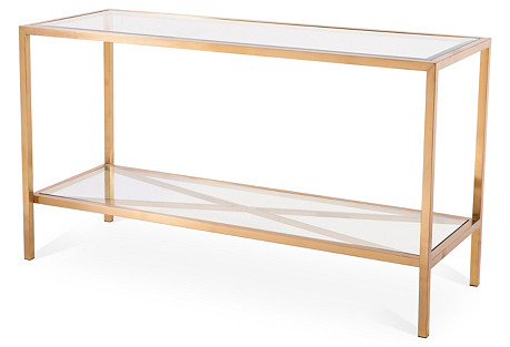 Gardner Console Table, Gold