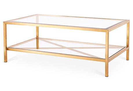 Gardner Coffee Table, Gold