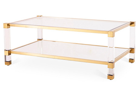 Santa Monica Coffee Table, Gold