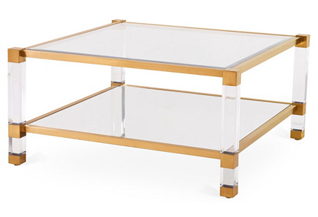 Santa Monica Square Coffee Table, Gold
