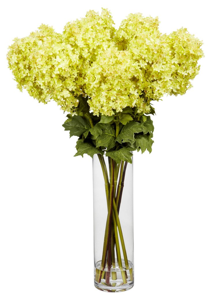 """40"""" Hydrangea in Vase, Faux"""