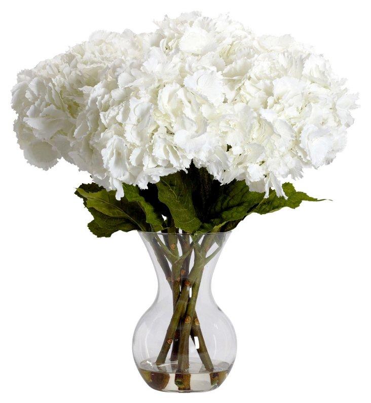 """23"""" Hydrangea in Vase, Faux"""
