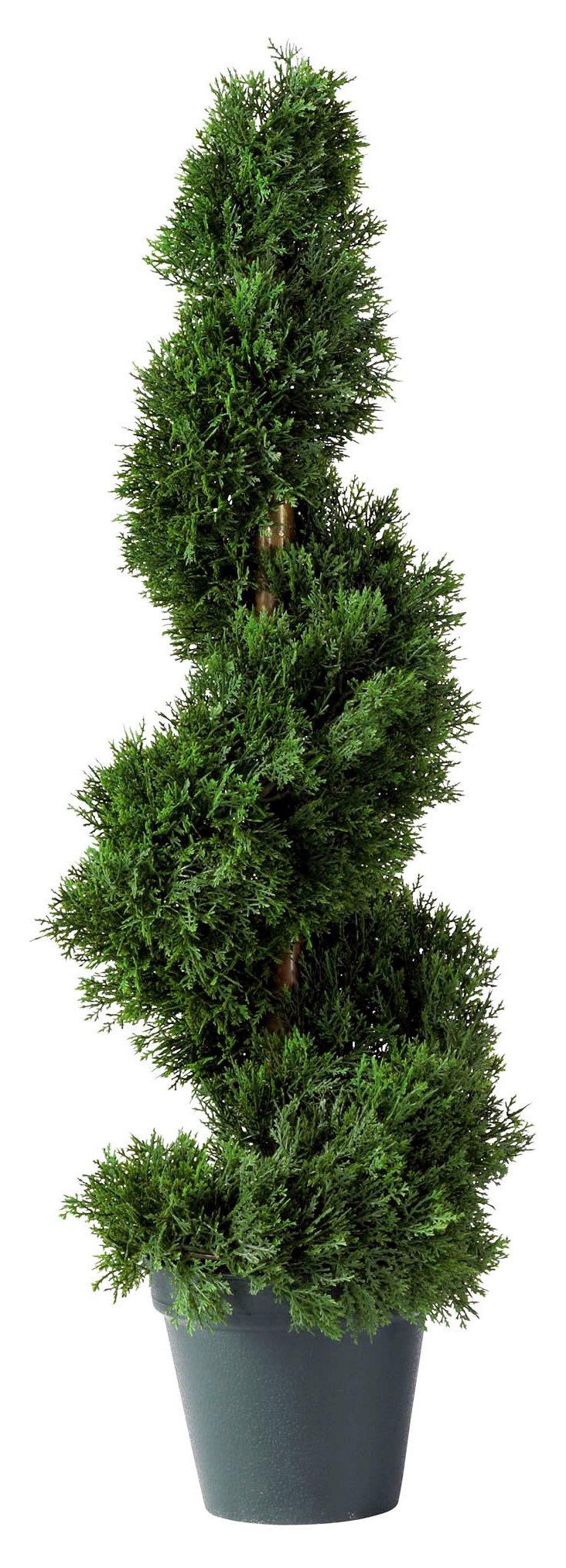 2' Cedar Spiral Tree, Faux