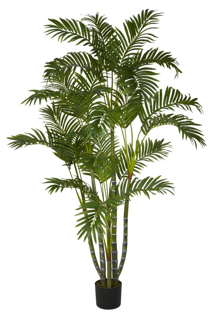 5' Carolina Areca Palm Tree in Pot, Faux