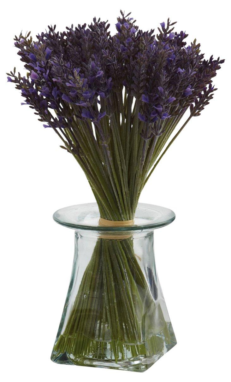 "12"" Lavender Bundle in Gass Vase, Faux"