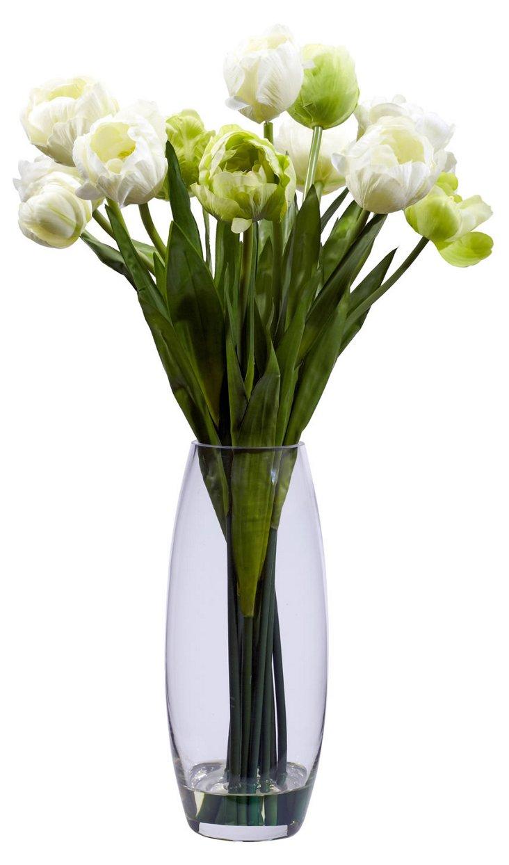 "20"" Tulip in Vase, Faux"