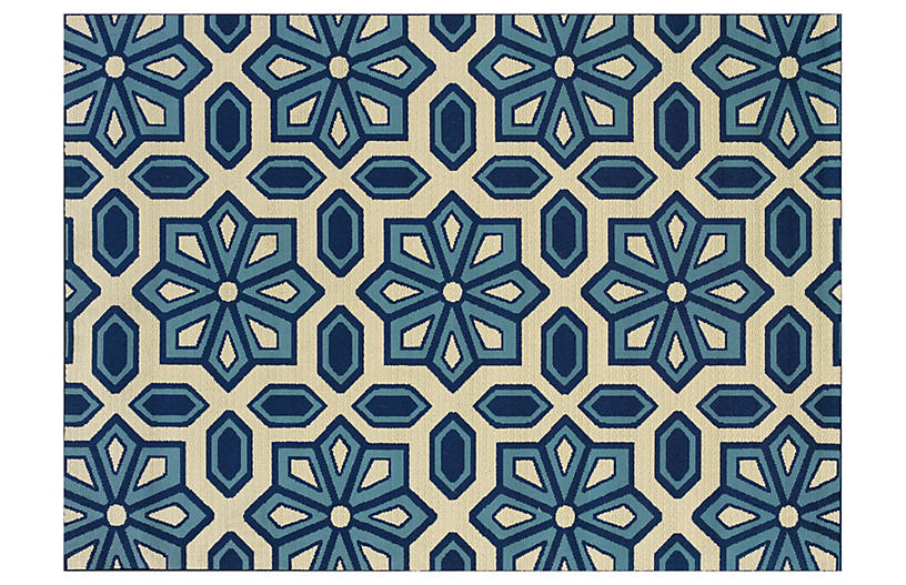 Puna Outdoor Rug Blue Sand Outdoor Rugs Rugs One