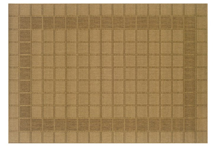 Hira Outdoor Rug, Tan/Brown