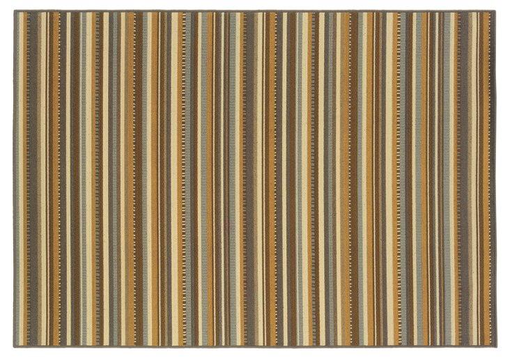 Nacula Outdoor Rug, Gray/Gold