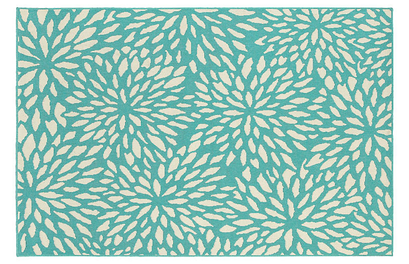 Henderson Outdoor Rug - Blue/Ivory