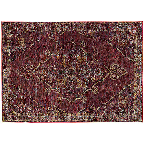 Sofia Rug, Red/Gold