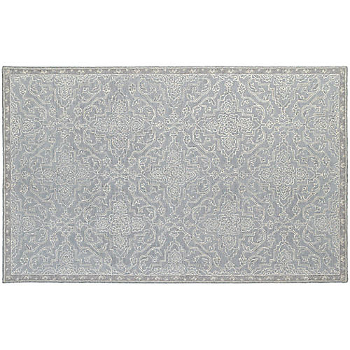York Rug, Gray/Blue