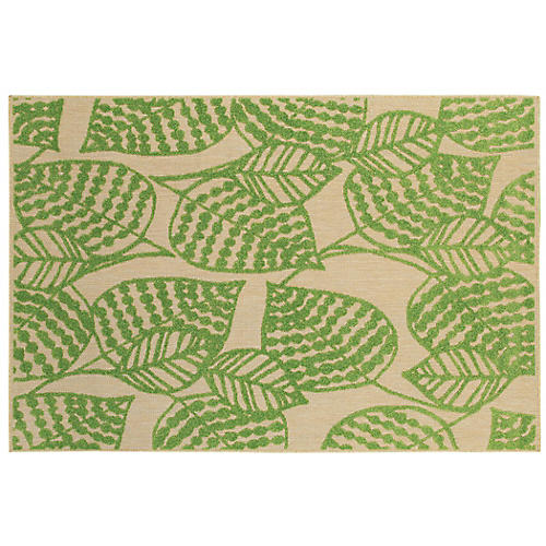 Sagitta Outdoor Outdoor Rug, Sand/Green