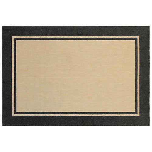 Carina Outdoor Outdoor Rug, Sand/Charcoal
