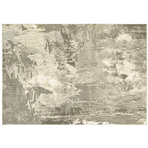 Rebecca Rug, Ivory/ Gray