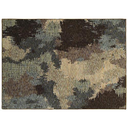 Weston Rug, Blue/Brown