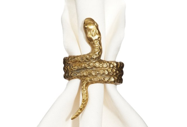 Set of 4 Snake Napkin Rings
