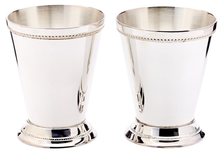 S/2 Beaded Julep Cups, Small
