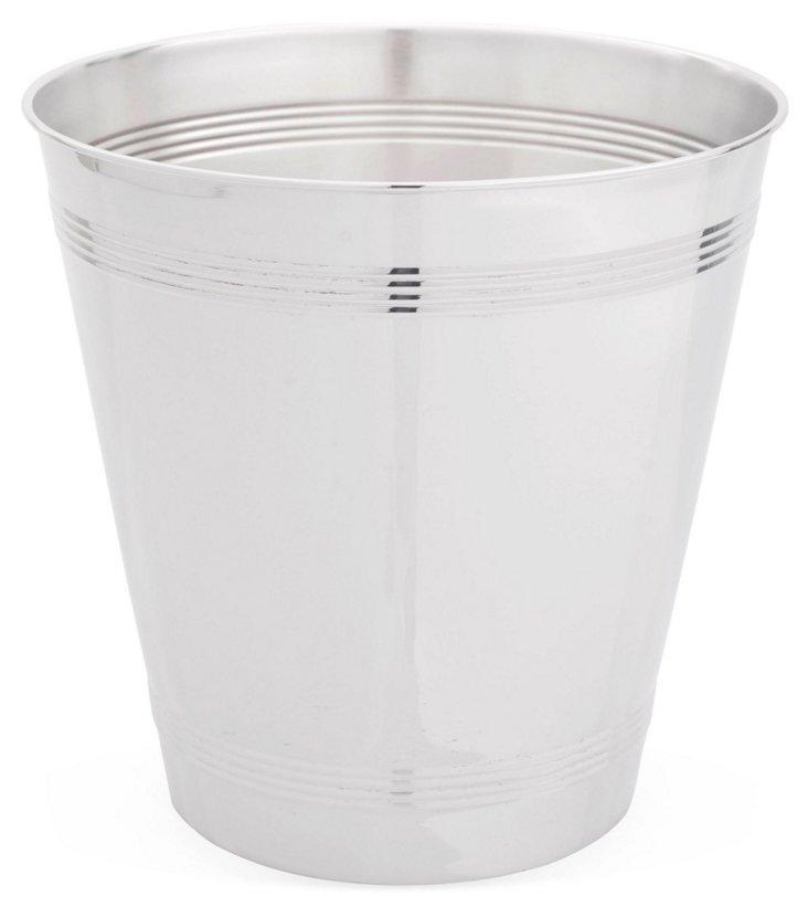 Wastebasket, Silver