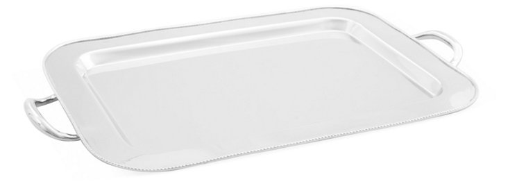 """19"""" Serving Tray, Silver"""