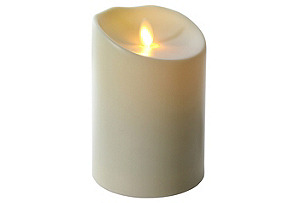 """5"""" Outdoor Flameless Candle, Ivory"""