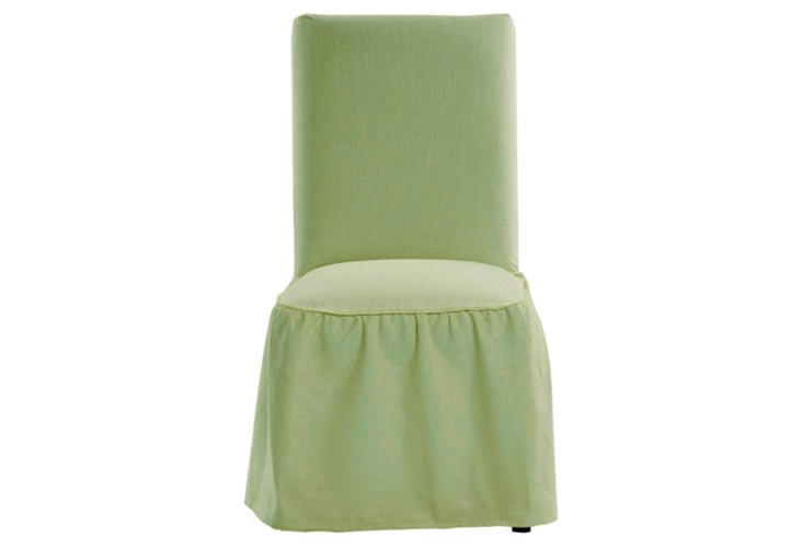 Cotton Dining Chair Slipcover, Sage
