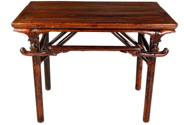 19th-C. Folding Wine Table
