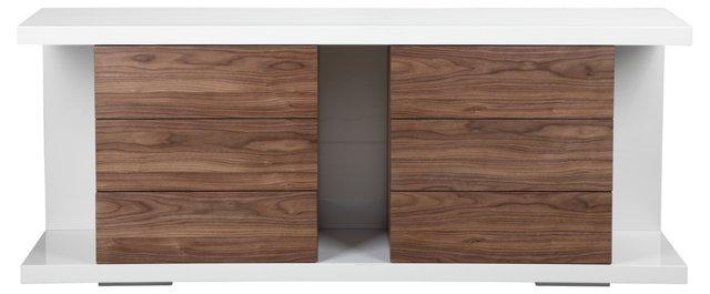 Hite Buffet/Dresser, White/Walnut