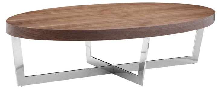 Oyster Coffee Table, Walnut