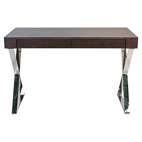 Alba X-Leg Desk, Espresso