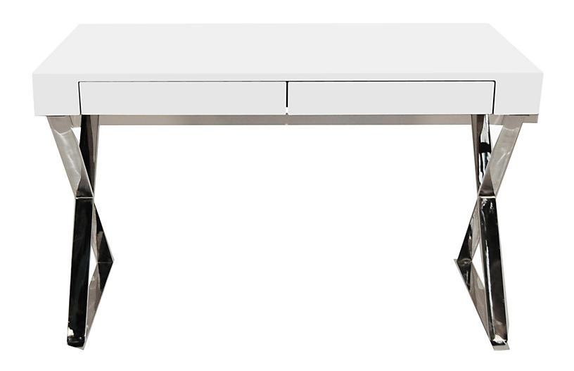 Alba X-Leg Desk - White