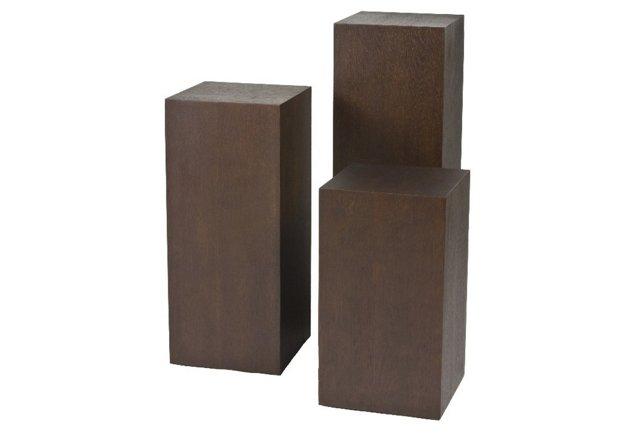 *D Miami Pedestal Set, Espresso