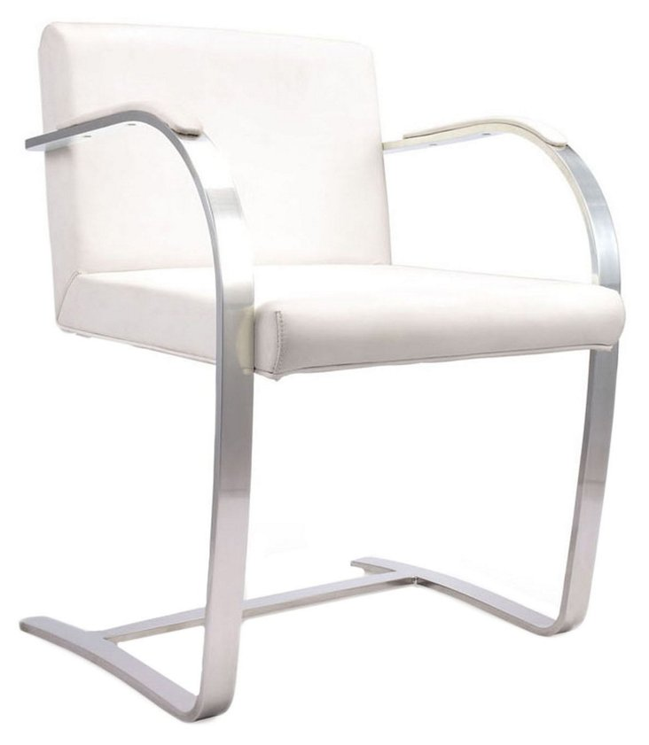 *R Highland Accent Chair, White