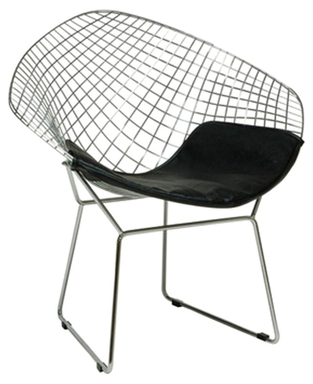 *IK Tampere Accent Chair, Silver/Black