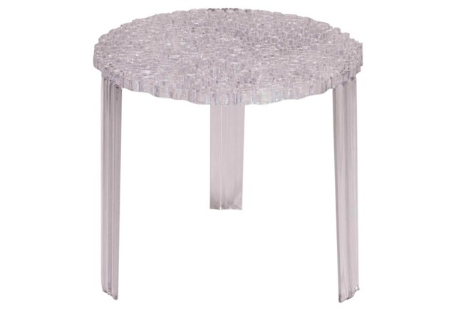 Honeycomb Side Table, Clear