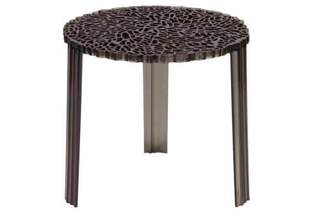 *D Honeycomb Side Table, Smoke