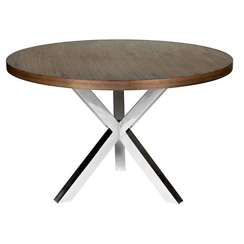"Charlotte 47""Dia Dining Table, Walnut"